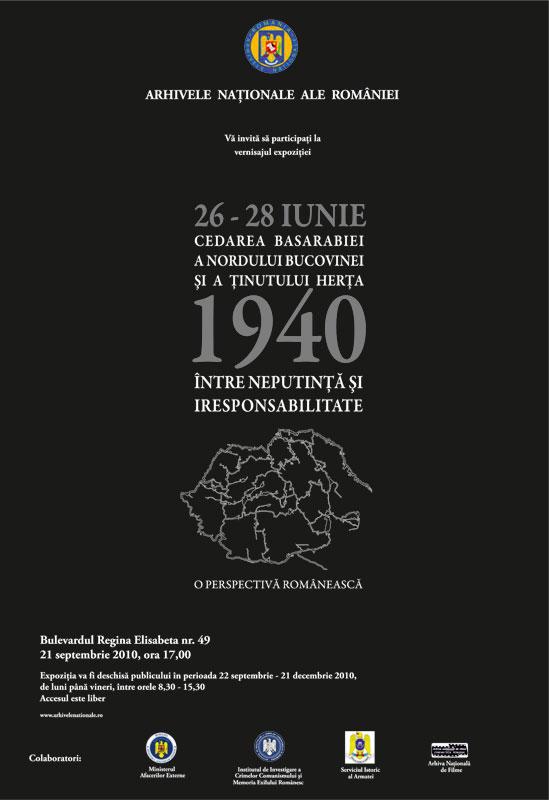 expozitie arhivele nationale basarabia 1940
